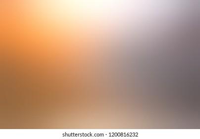 Gold silver defocus pattern. Orange beige gray gradient background. Metal blurred texture. Muted abstract illustration.