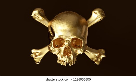 Gold Skull and Crossbones 3d illustration skull scan scsuvizlab CC Attribution