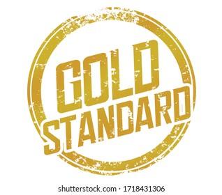 Gold Standard Stamp Best Practice Example Comparison Measure Performance Illustration