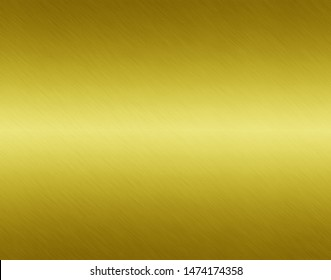 Gold steel metal plate background