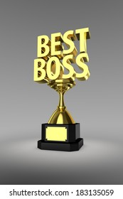 Gold trophy for the winner of a Best Boss