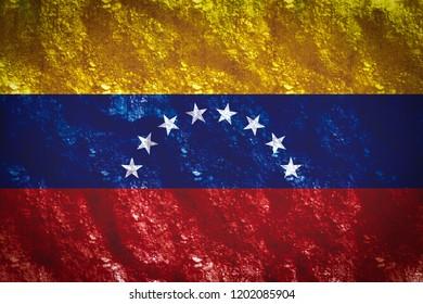 the gold of venezuela flag