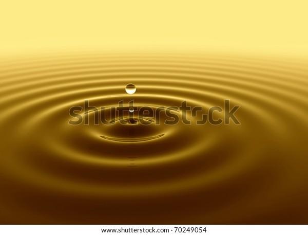 Gold water drop