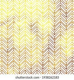 Gold and White Chevron Pattern