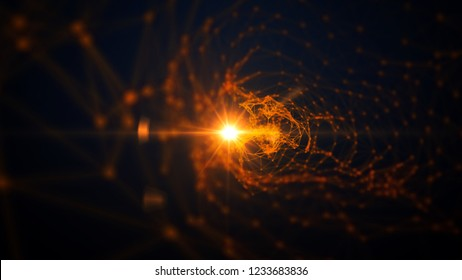 Golden abstract cinematic background