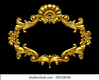 golden baroque Frame