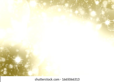 golden blur abstract background with white bokeh (digital paint)