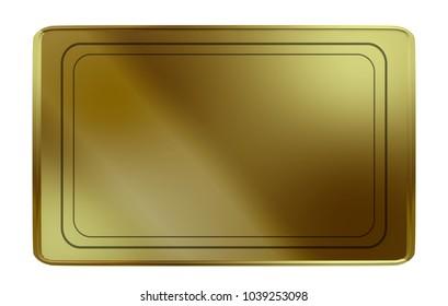 Golden Card Block 3D Illustration