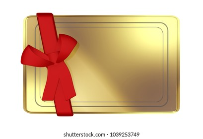 Golden Card with red lace 3D Illustration