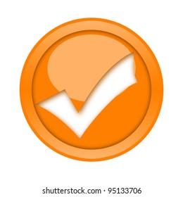 Golden check mark button