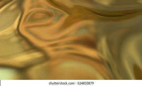 Golden cloth background. Illustration of gold texture fabric with ripples. Footage available.
