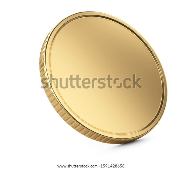 Golden Coin Template Banking Concept Graphic Stock