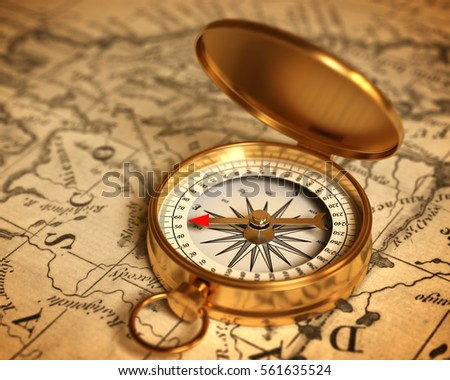 Compass On Map Royalty Free Stock Illustration of Golden Compass On Map 3 D  Compass On Map