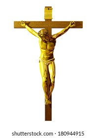 golden Crucifix, Jesus Christ on the cross