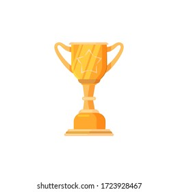 Golden cup illustration. Cup, gold, champion. Competition concept. illustration can be used for topics like tournament, competition, winning