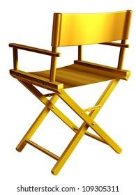 """golden directors chair, """"Regiestuhl"""""""