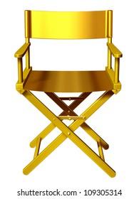 """golden directors chair, """"Regiestuhl"""","""