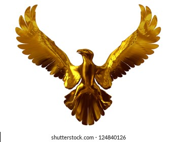 golden Eagle with open wings, sign of Nations, emblem of the king