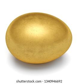 Golden egg isolated on white background. 3d rendering.