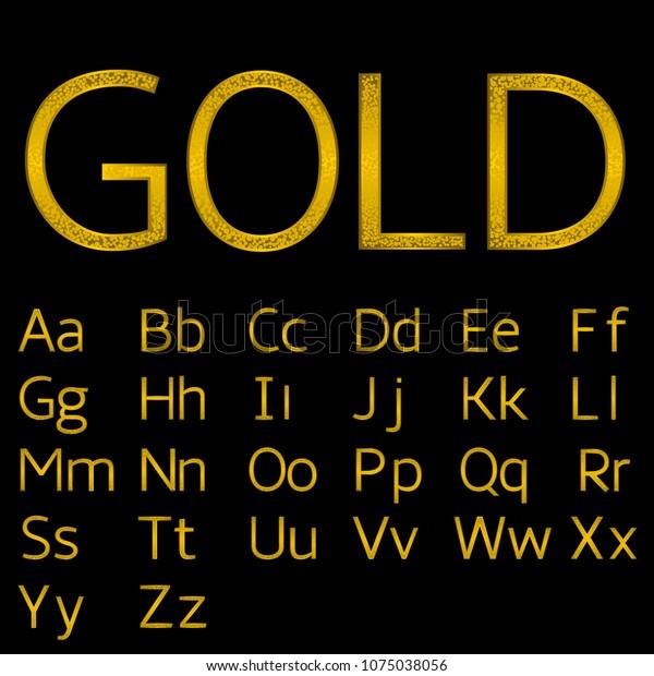 Golden English Alphabet Royal Elegant Letters Stock Illustration 1075038056