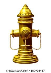 golden fireplug, pillar Hydrant, fire service supply