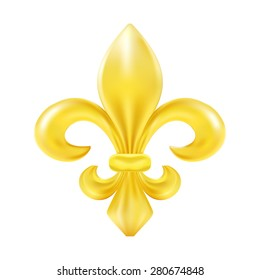Golden fleur-de-lis decorative design