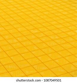 golden floor - rendered 3d illustration