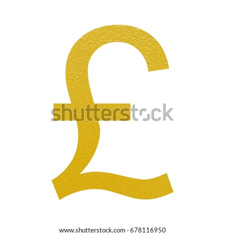 Royalty Free Stock Illustration Of Golden Gbp British Pound Currency