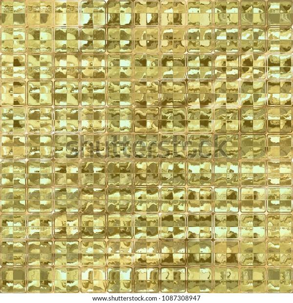 Golden Gold Shiny Reflective Glass Mirror Stock Illustration 1087308947