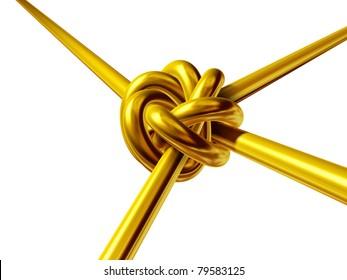 golden gordian knot