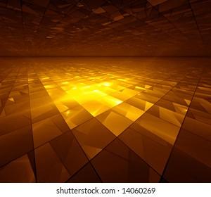 Golden Grid - fractal illustration