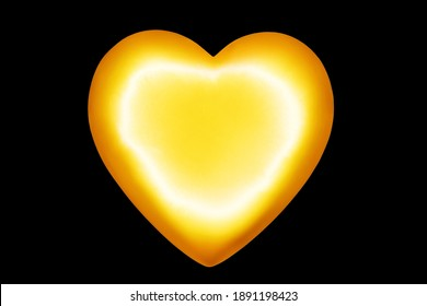 Golden heart black background isolated close up, gold heart shape pattern, shiny yellow metal heart, love symbol, valentines day sign, wedding greeting card design element, romantic holiday decoration