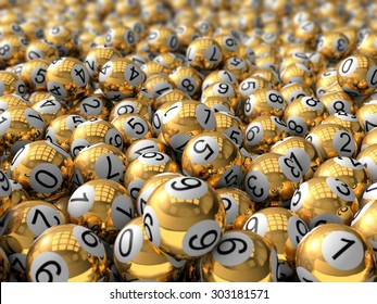golden lottery balls.
