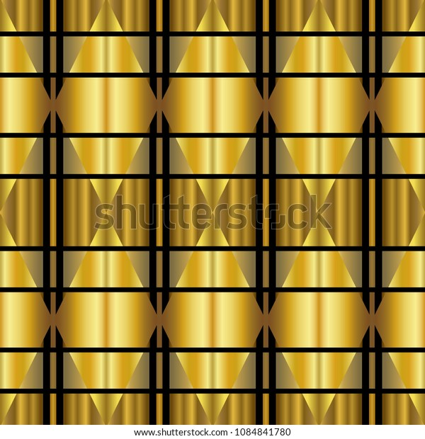 Golden luxury seamless pattern with simple geometric ornate for brand, product, gift or card background