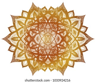 Golden Mandala art