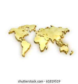 Golden Map - Global Business and success concept