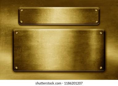 golden metal template.Gold background.