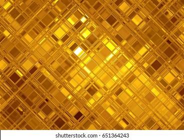 Golden mosaic, luxury gold background