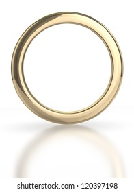 Golden ring isolated with clipping path