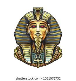 Golden Sarcophagus of the Egyptian pharaoh illustration