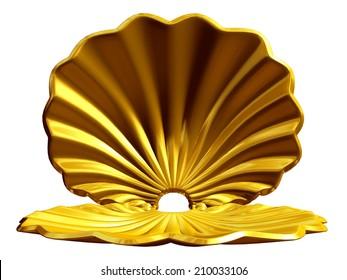golden shell, useful for presentation background