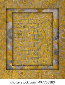 Golden and silver frame texture embossed velvet
