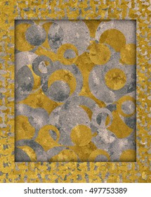 Golden and silver frame texture embossed single