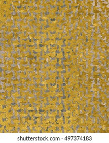 Golden Silver texture with velvet pattern