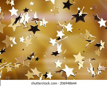 Goldene Sterne.