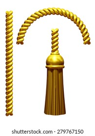golden Tassel with rope