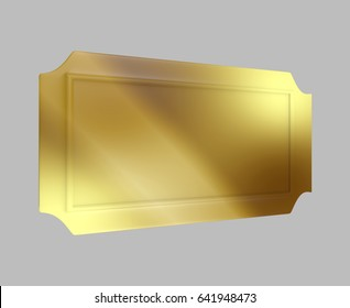 Golden Ticket Prize 3D Rendering