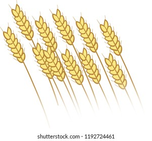 golden wheat field icon