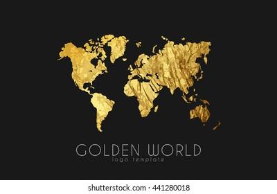 Africa globe gold images stock photos vectors shutterstock golden world map world logo design creative world logo gumiabroncs Image collections