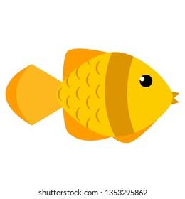 Goldfish flat illustration on white